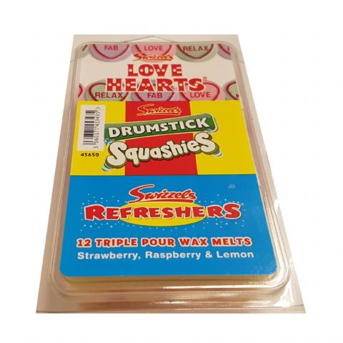 Love Hearts Drumstick Squashies Refreshers - Swizzels Wax Melts 12 Pack